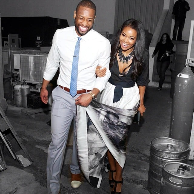 Dwyane and Gabrielle couldn't stop grinning as they left a party together in March 2014.