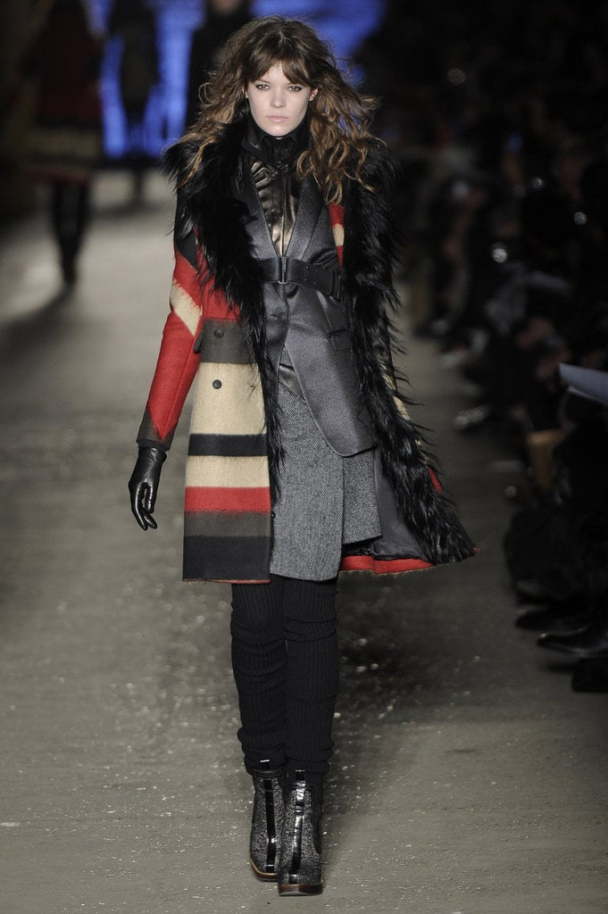 We can't get enough of Rag and Bone's rich use of texture; here, the red, olive, cream, and black stripes make this coat feel super special.