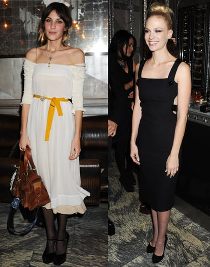 Pictures of Alexa Chung January Jones Dominic Cooper Daisy Lowe at Versace Dinner in London