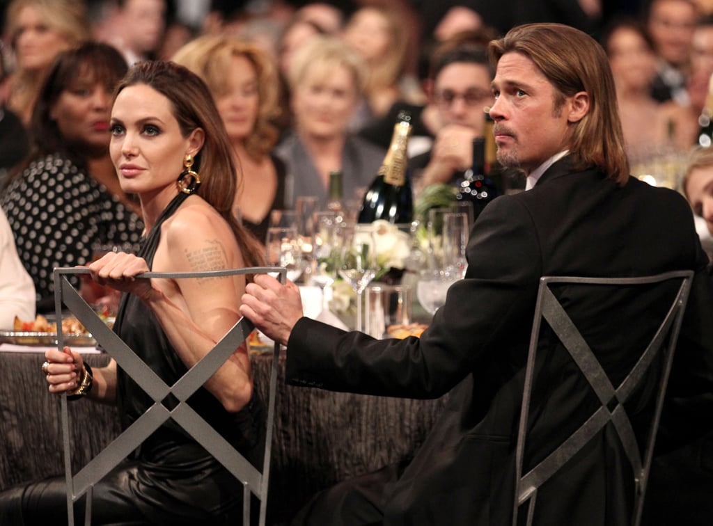Brad and Angelina Cuddle and Laugh Through SAG Awards —See Their Cutest PDA Moments!