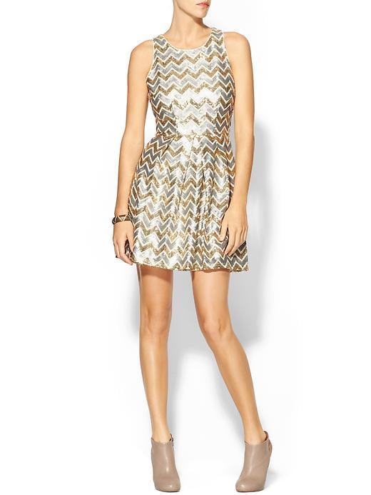 Ark & Co. Metallic Chevron Dress