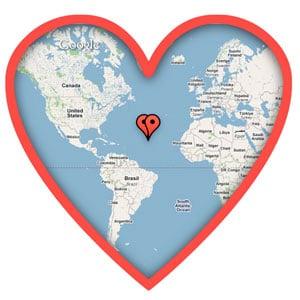 Google Maps Valentine's Day Ecards
