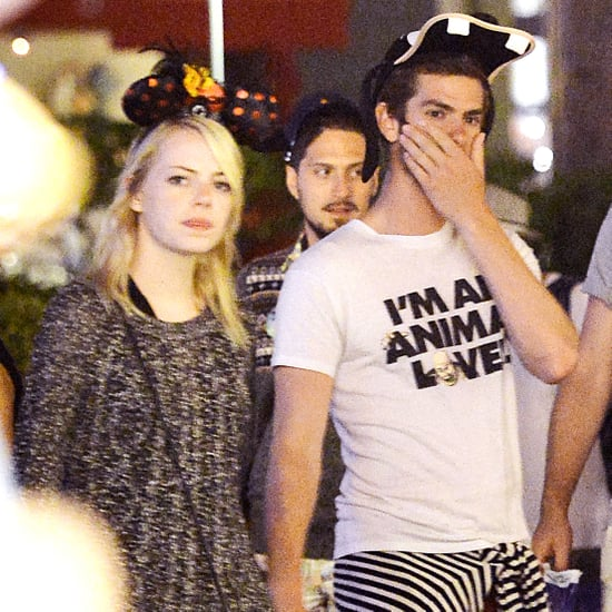 Andrew Garfield and Emma Stone at Disneyland Pictures