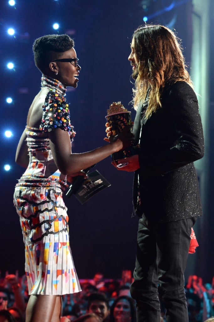 Lupita presented an award to Jared Leto, and it was adorable.