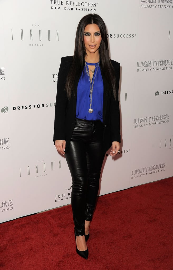 Kim Kardashian at the True Reflection fragrance launch.