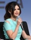 Selena Gomez wore a teal Cushnie et Ochs dress for her SXSW panel.