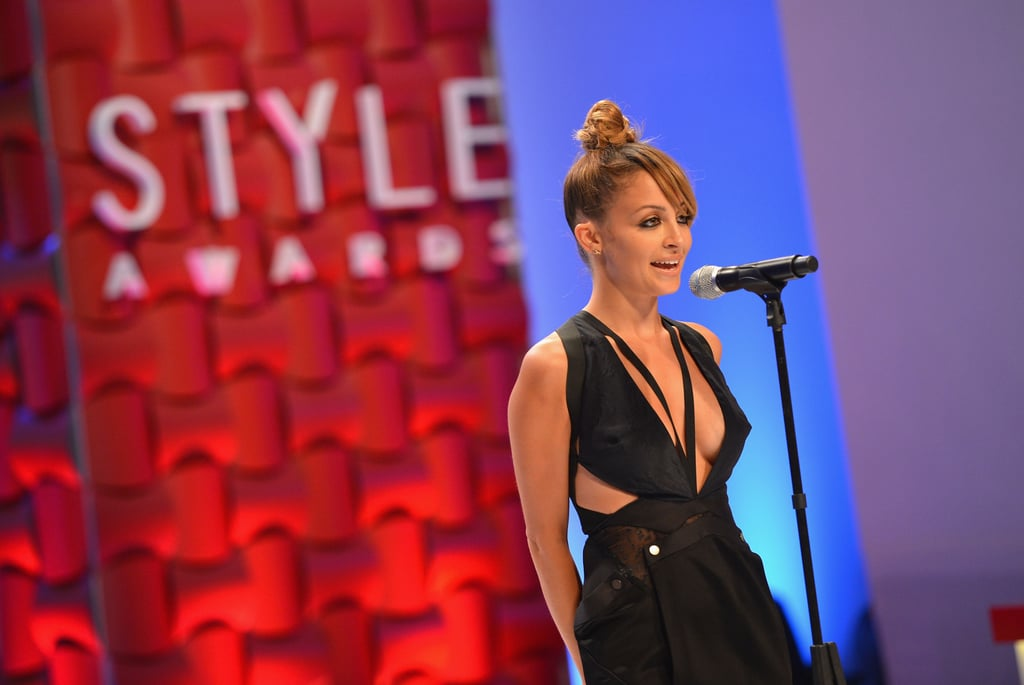Nicole Richie spoke on stage at the Style Awards.