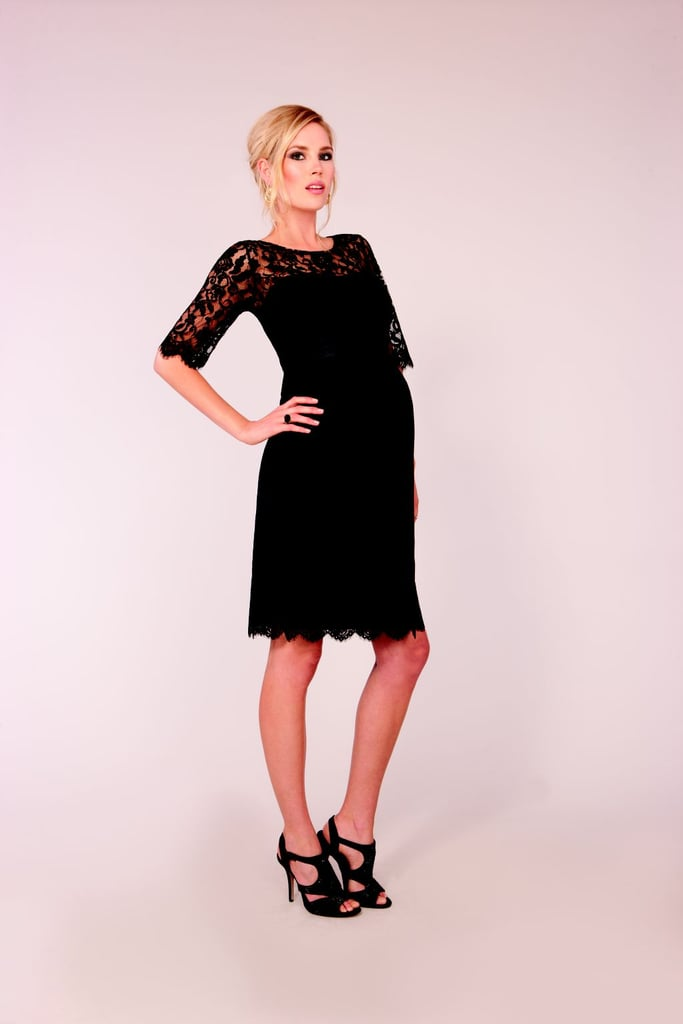 For the Cocktail Party: Seraphine Luxe Black Lace Cocktail Dress