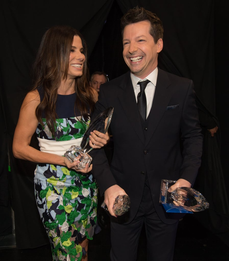 She and Sean Hayes cracked up at the People's Choice Awards in January 2014.