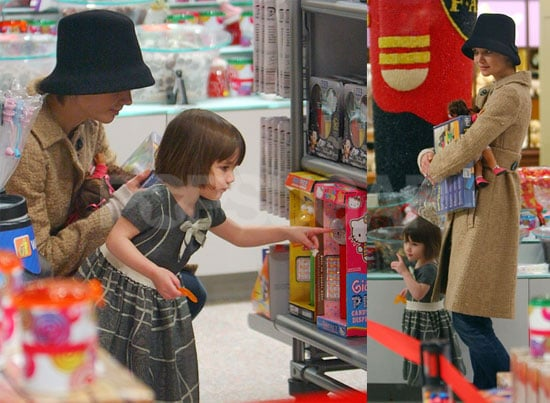 Photos of Suri Cruise Picking Out Toys at FAO Schwarz
