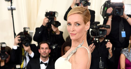 Uma Thurman Flashes Butt Cleavage at Met Gala 2016: Photos
