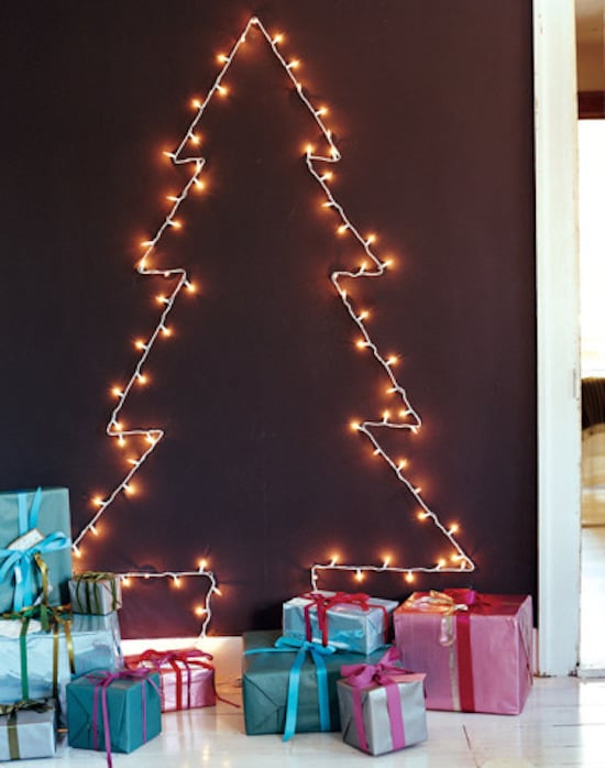 String-Light Tree 15 Crazy-Affordable Alternatives to Real Christmas Trees POPSUGAR Smart Living