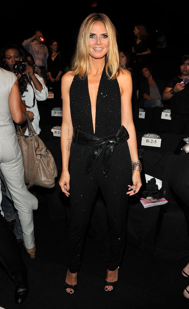 Heidi Klum at the Project Runway fashion show in NYC.