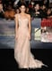 Owning her princess moment in a gauzy one-shouldered Donna Karan Atelier gown in LA.