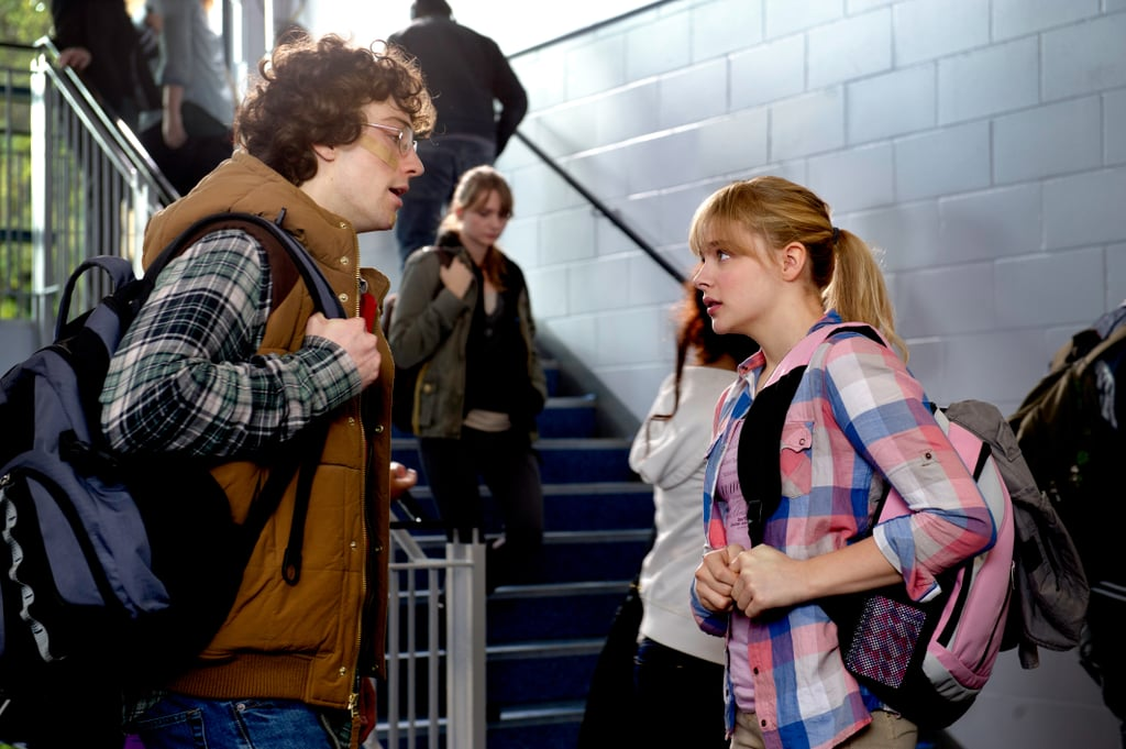 Aaron Taylor-Johnson and Chloë Moretz in Kick-Ass 2.