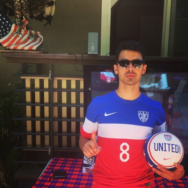 Make no mistake about it — Joe Jonas is rooting for the US. Source: Instagram user joejonas