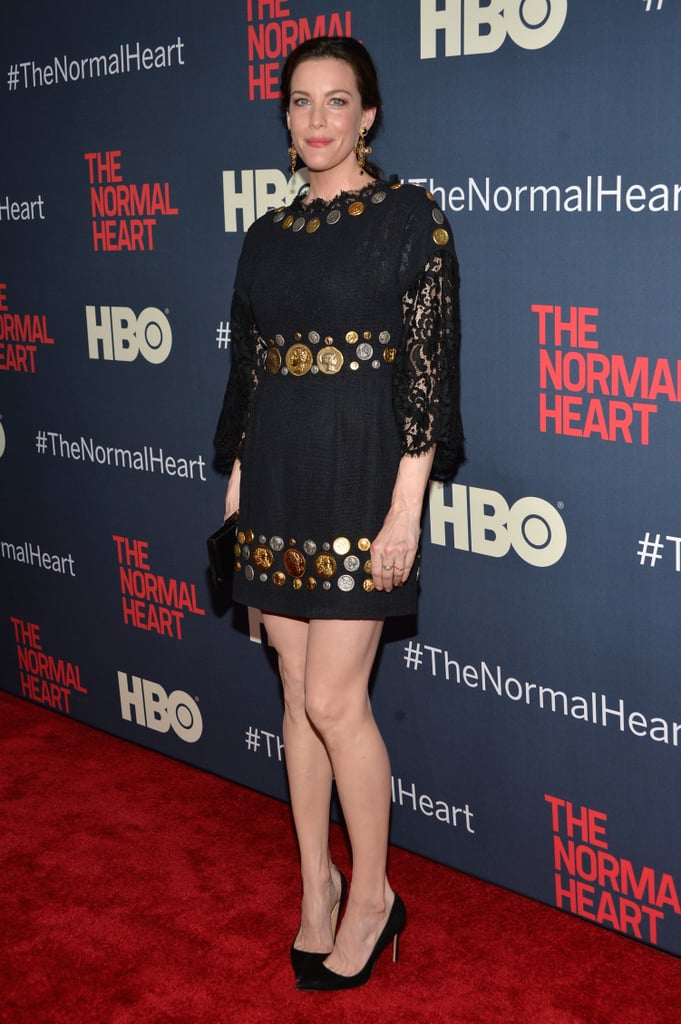 Liv Tyler wore a '60s-style dress.