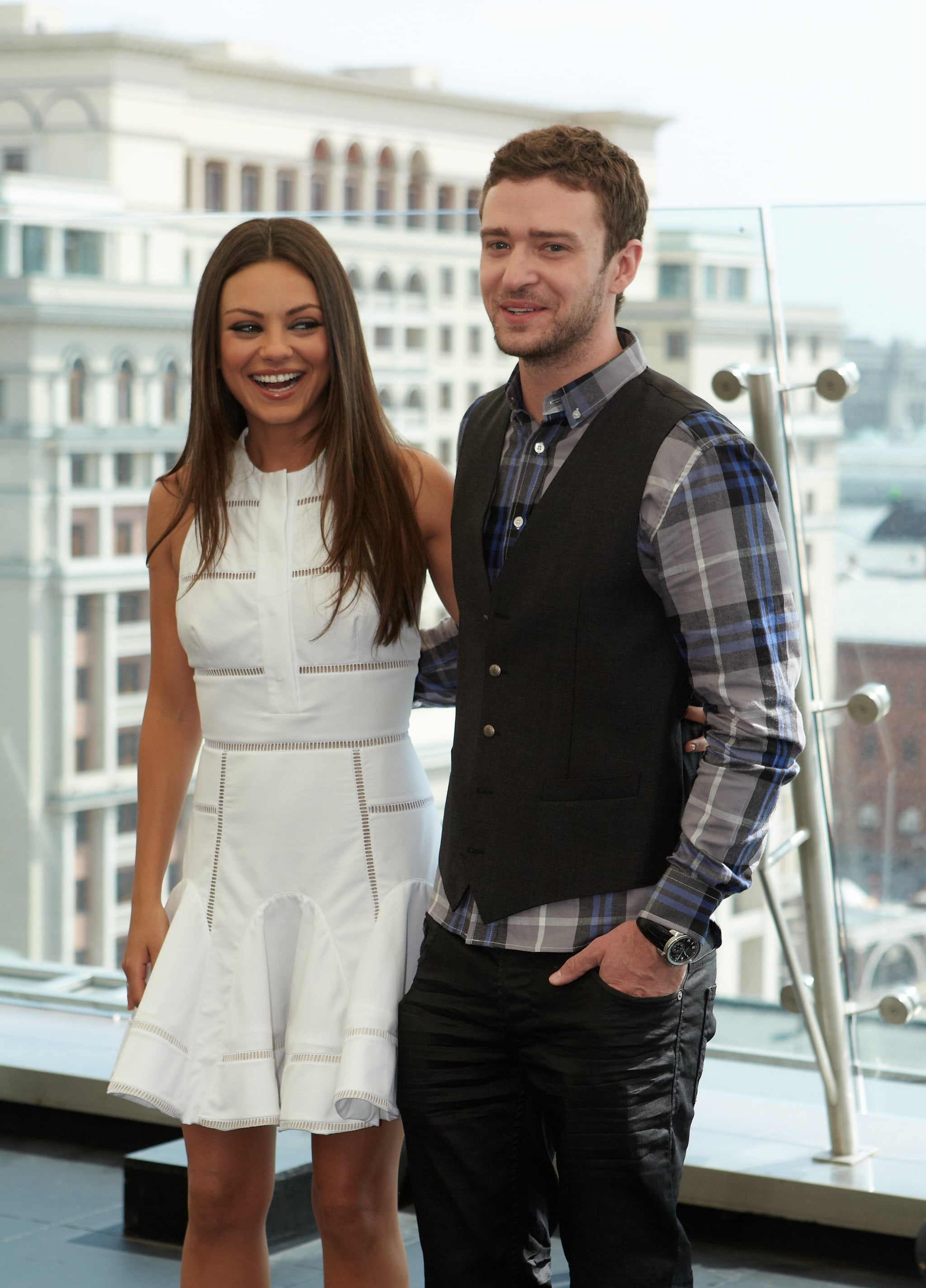 Justin Timberlake and Mila Kunis in Russia.