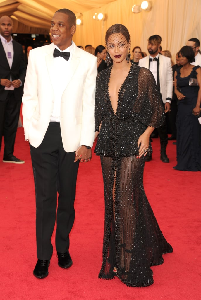 Beyoncé and Jay Z made a high-profile appearance at the Met Gala in NYC Monday night, closing down the red carpet with their arrival.