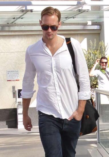 Pictures of Alexander Skarsgard Leaving the Gym in LA