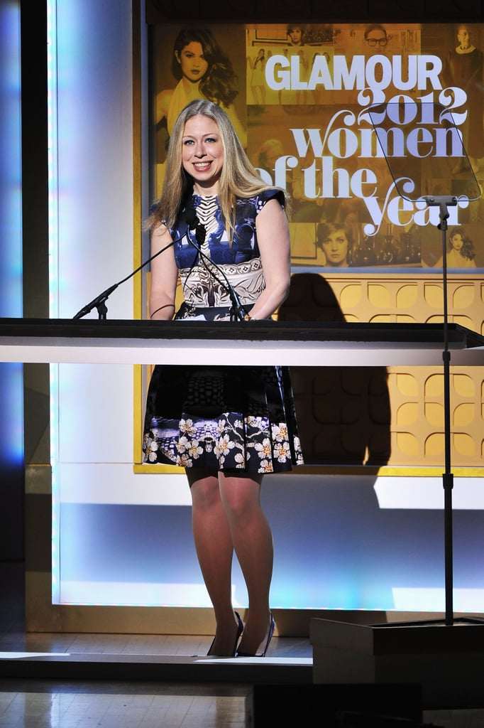 Chelsea Clinton was onstage in NYC for the Glamour Women of the Year Awards.