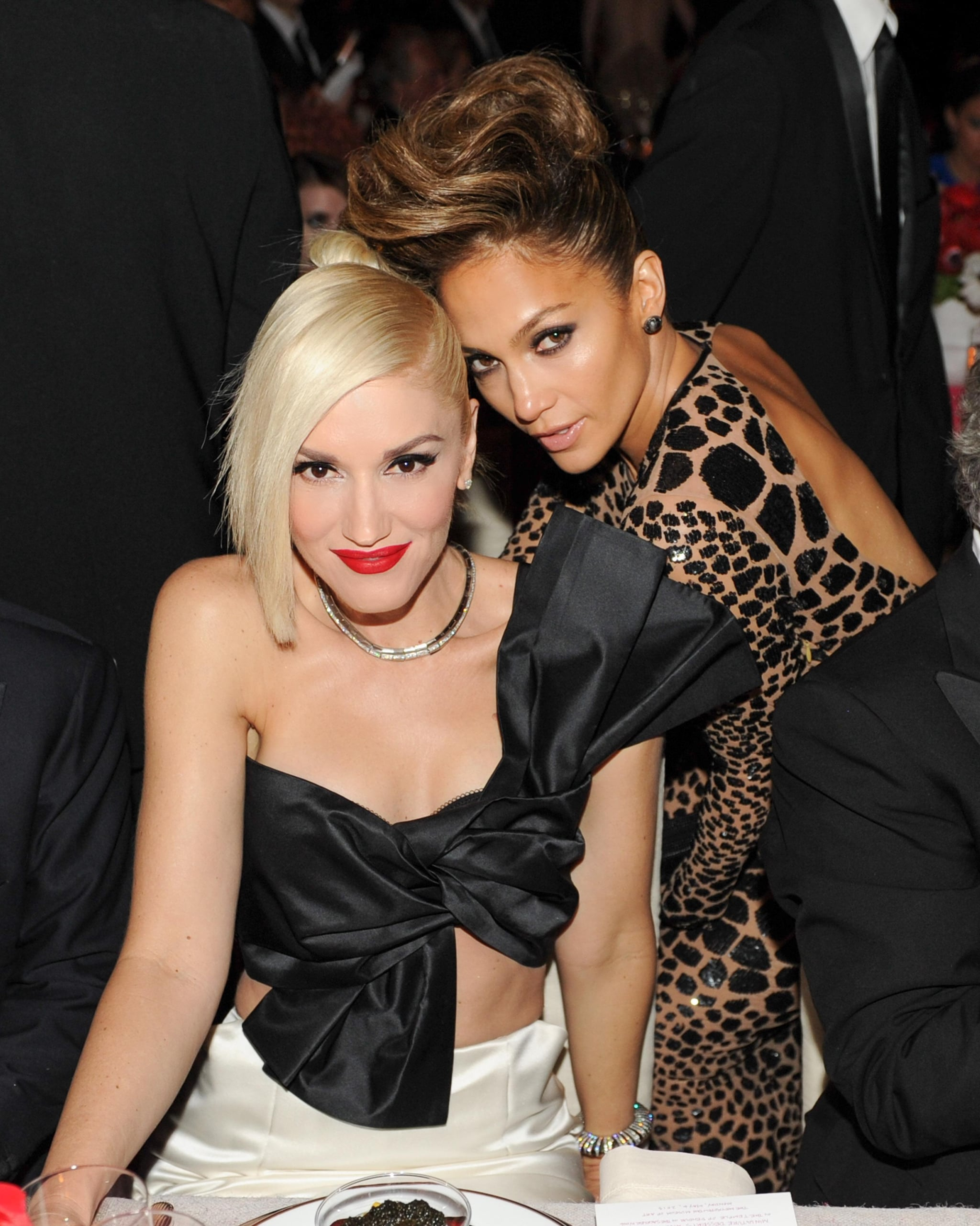 Gwen Stefani and Jennifer Lopez posed together inside the Met Gala.  Source: Billy Farrell/BFANYC.com