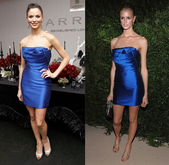 Marchesa Designer Georgina Chapman and Jacquetta Wheeler Wear Same Blue Marchesa Dress 2009-11-17 15:00:22
