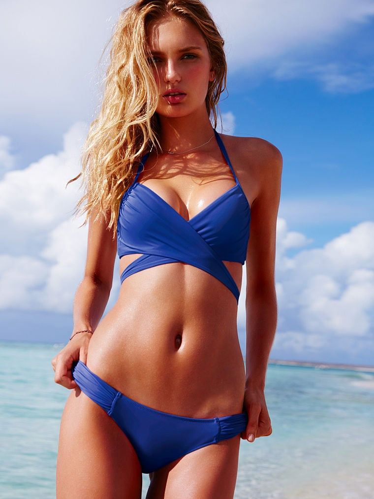Victoria's Secret Wrap Halter Top ($51) and Bottoms ($26)