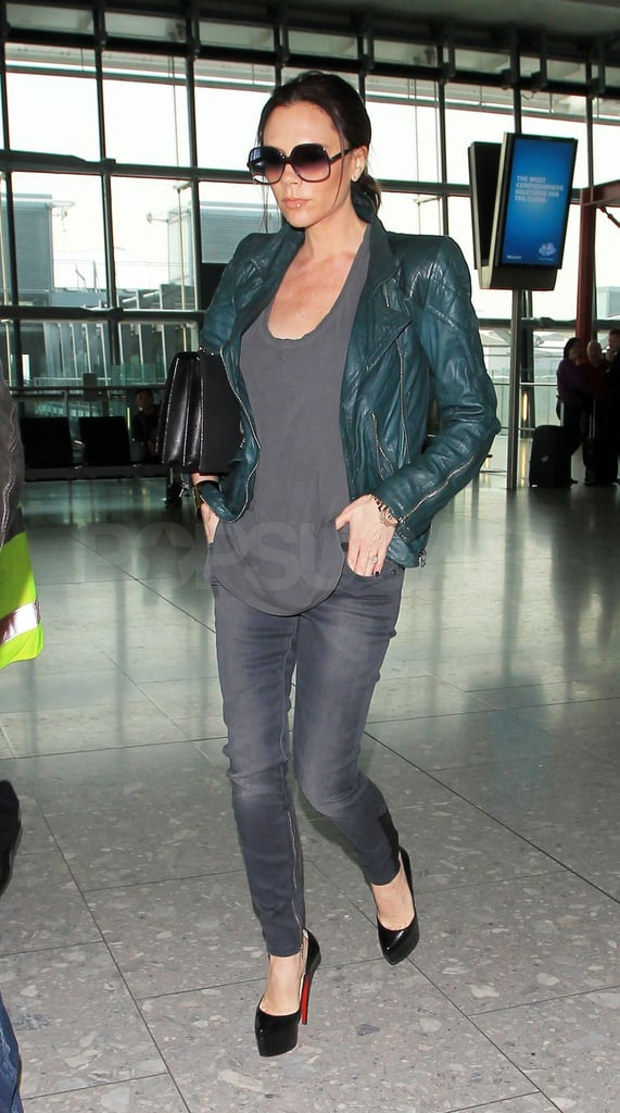 Victoria Beckham Heads Home to Her Boys and Is Having a Girl!