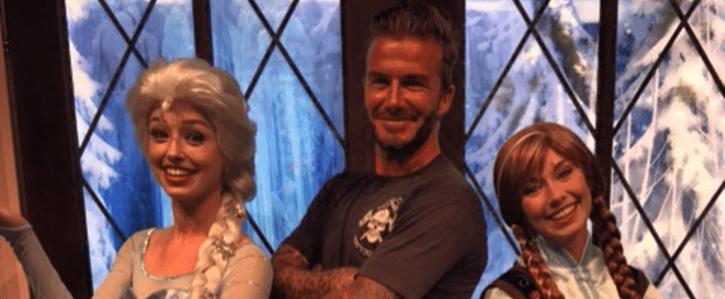 David and Victoria Beckham Spend a Family Day at Disney