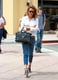 If you want to walk the streets with as much style credit as Jessica, you've got to pick up a few unique accessories. With the two-tone contrast of her Loeffler Randall sandals, the offbeat silhouette of her bag, and the quirky addition of a printed belt, Jessica's got a lot going for her — even though it may not appear to be so at first glance. Scroll down to pull off this look yourself. It'll take about as much effort as getting dressed in the morning, we promise. Source: Getty / Bauer-Griffin
