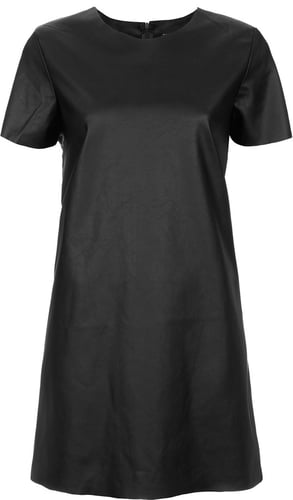 Leather-look T-shirt Dress