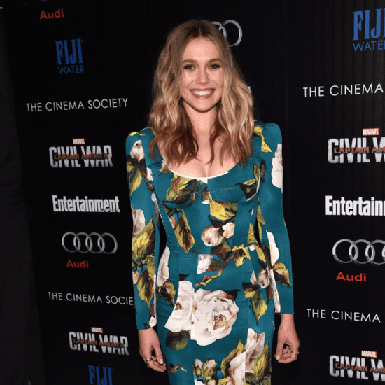 Elizabeth Olsen Wearing a Dolce & Gabbana Dress May 2016
