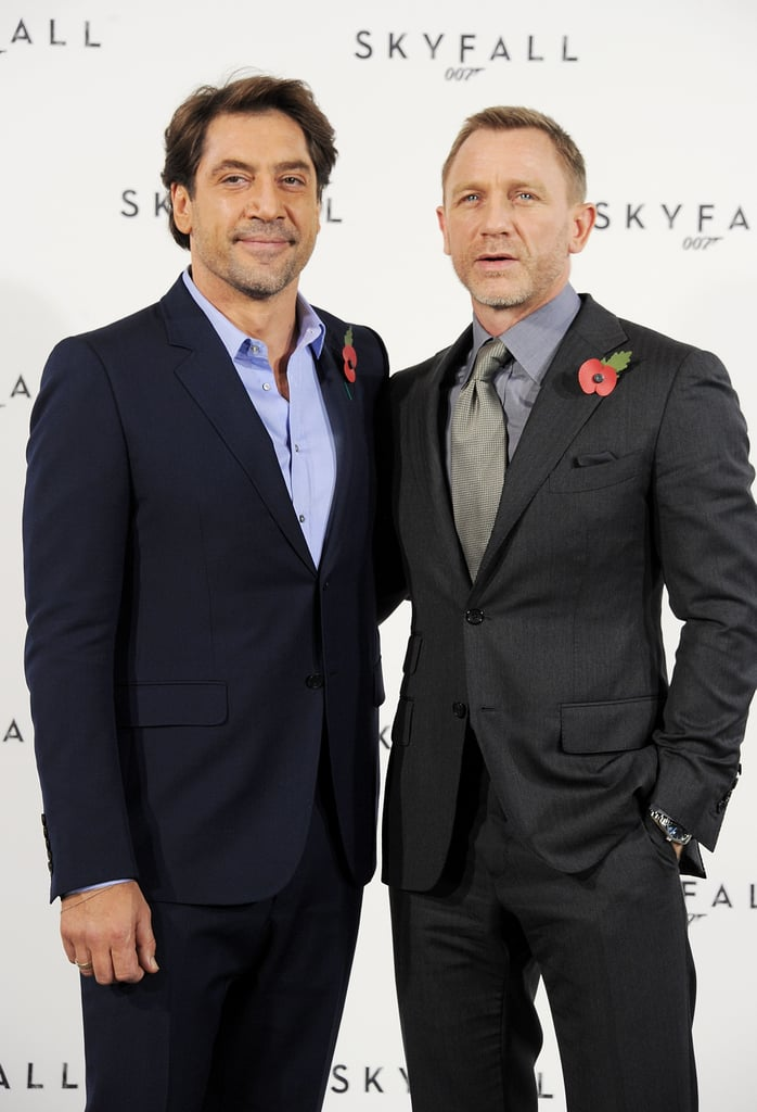 Javier Bardem and Daniel Craig celebrated the start of production on Skyfall.