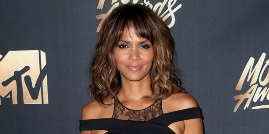 Halle Berry Poses On The Beach In Sexy Black Bikini