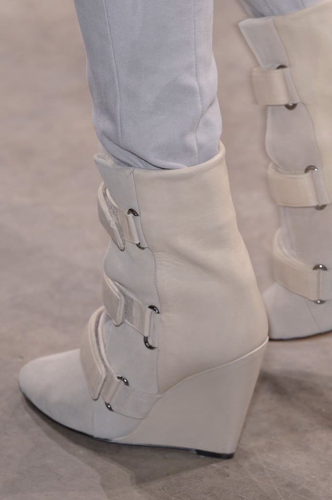 Like Marant boots from seasons past, a side seam separates different fabrics like suede and buttery soft leather.
