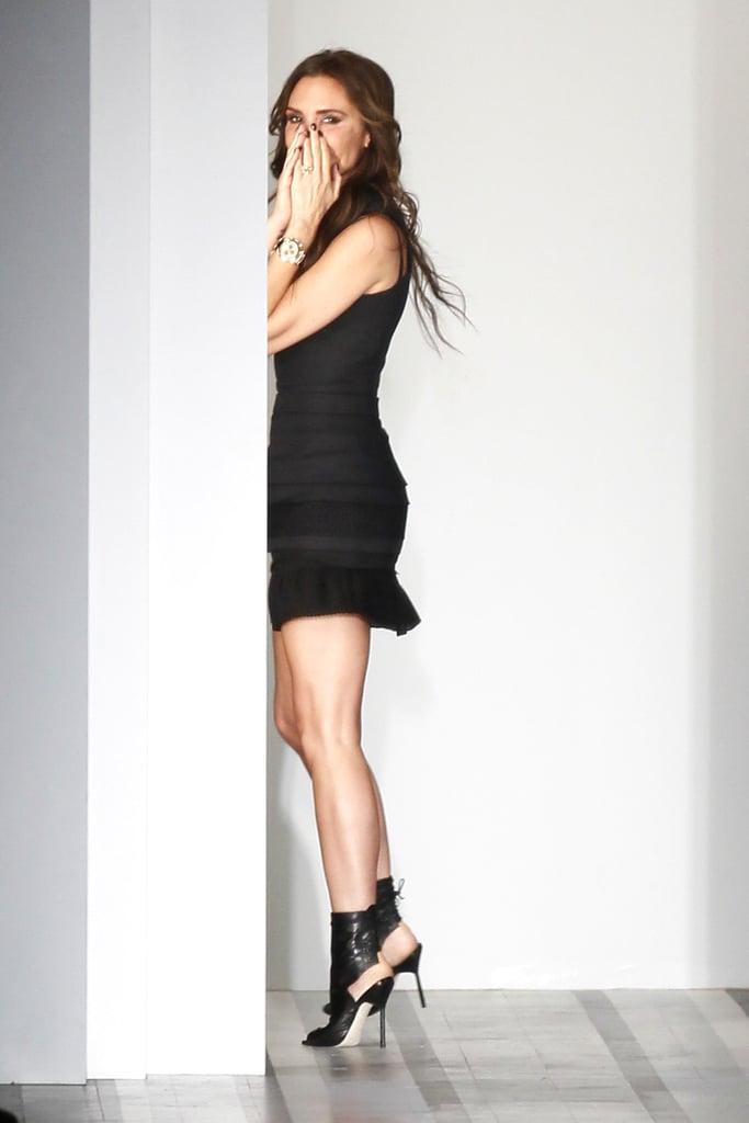 Victoria Beckham got playful on the runway.