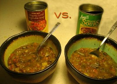 Lentil Vegetable Soup: Trader Joe's vs. Amy's Kitchen