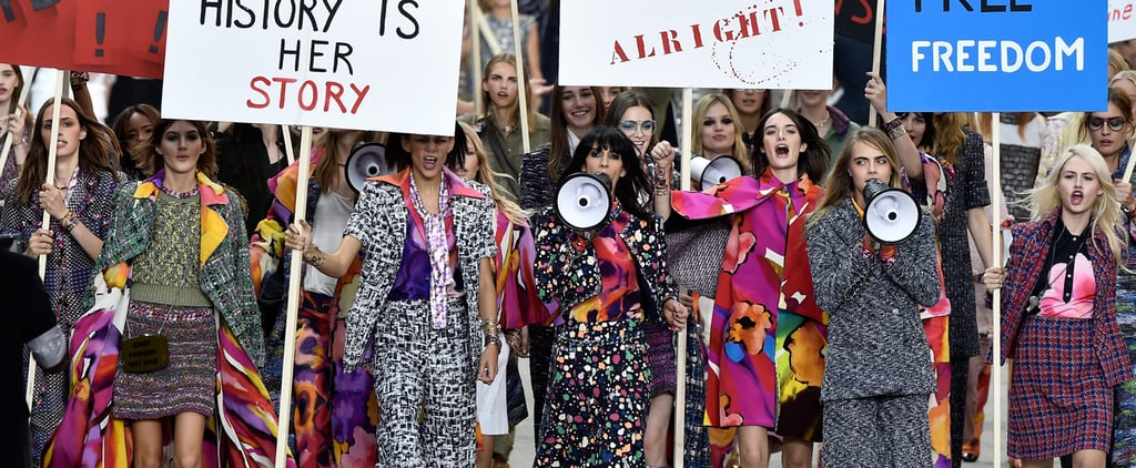 Kendall Jenner and Cara Delevingne Lead Chanel's Feminist March!