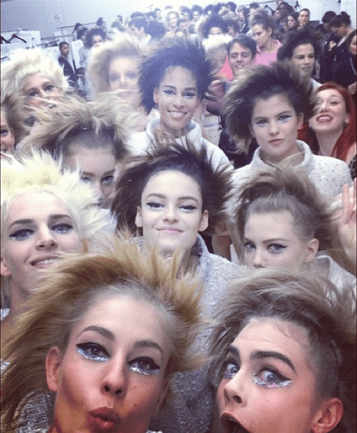 The Ultimate Backstage Selfie at Chanel