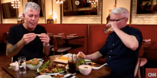 We Are All Anderson Cooper Eating Really Hot Chicken Wings