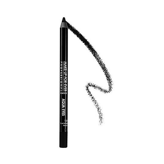 Make Up For Ever Aqua Eyes ($18-$19) is for the woman who never leaves home without her face on. It is swim-approved, meaning you won't have raccoon eyes after you do a few laps. Oil makeup remover required.  — JC