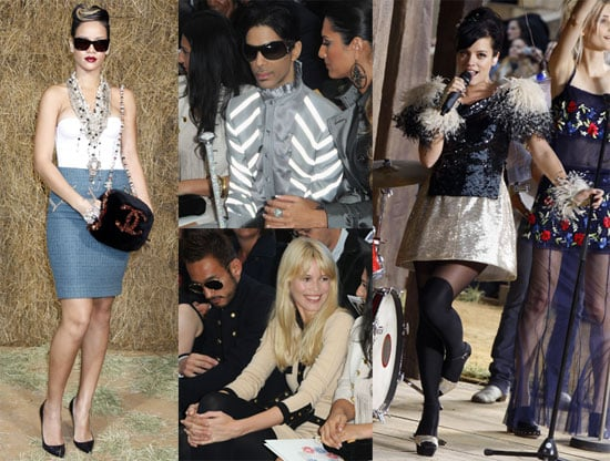 Photos of Lily Allen, Prince, Karl Lagerfeld, Claudia Schiffer, Rihanna at Chanel Paris Fashion Show