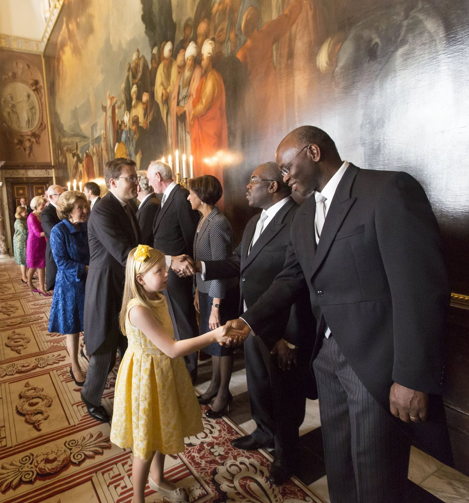 Princess Alexia greeted attendees at the ceremony.