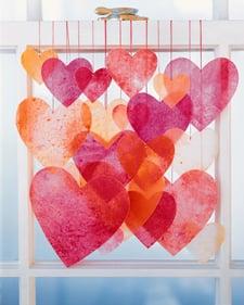 Hanging Crayon Hearts