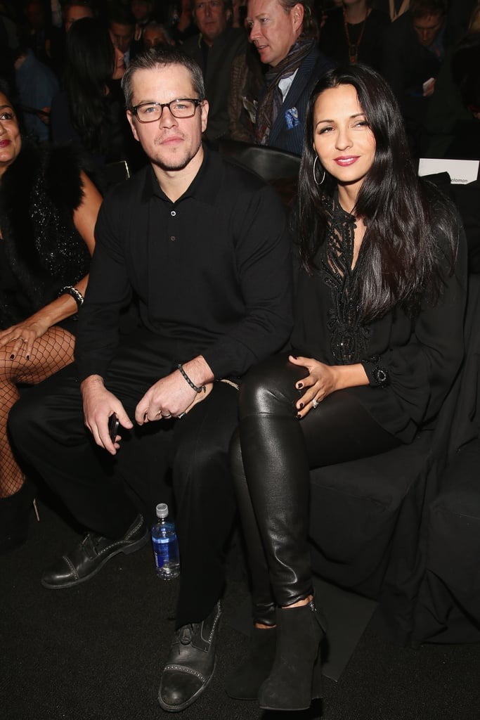 Matt and Luciana Damon checked out the Naeem Khan show during NYFW.