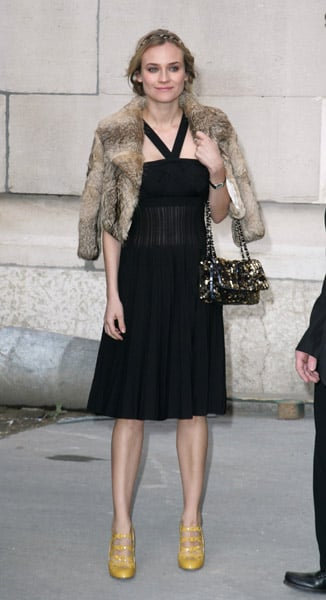 She looked fabulous in fur at the Chanel Haute Couture show in Paris in 2008.