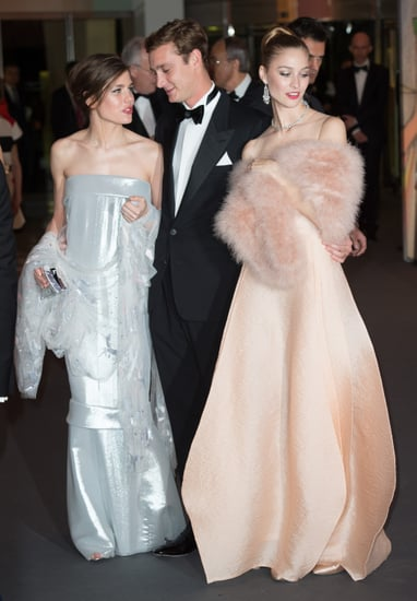 Charlotte; her brother, Pierre; and his girlfriend, Beatrice, made a glamorous entrance.