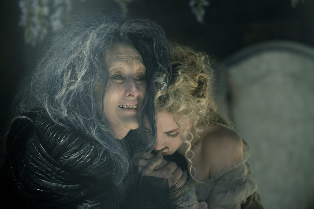 Streep looks creepy as The Witch.