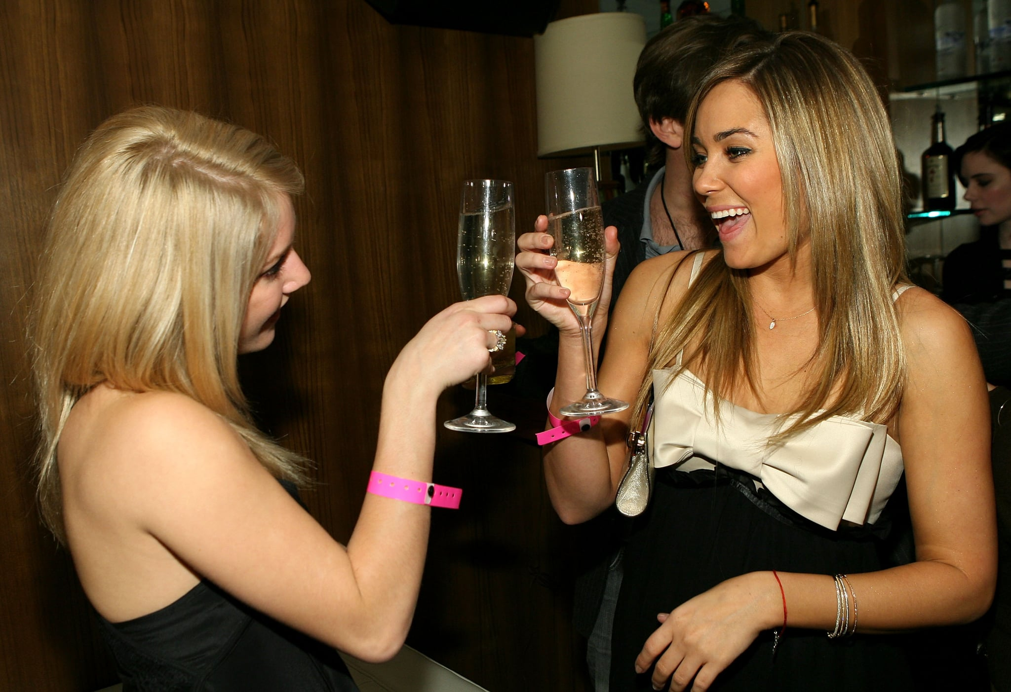 Then-BFFs Lauren Conrad and Heidi Montag clinked glasses while celebrating Lauren's 21st birthday in LA back in February 2007.